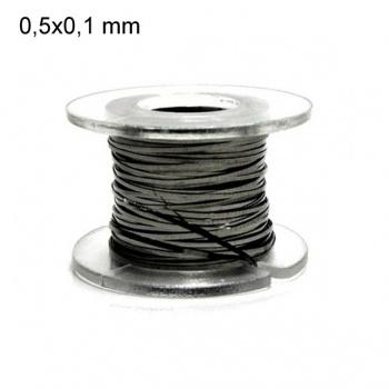 Kanthal A1 plat (ruban) - 0,5 mm x 0,1 mm (10m) - Fil résistif