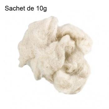 Sachet Coton cardé écru pour micro coil - 10g