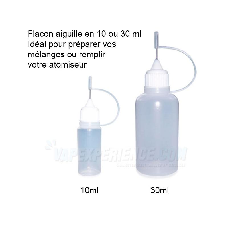 flacon aiguille e-liquide