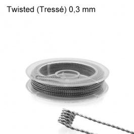 Kanthal A1 Twisted Tressé - 0,30 mm (10m) - Fil résistif