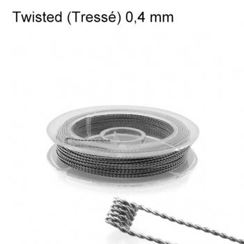 Kanthal A1 Twisted Tressé - 0,40 mm (10m) - Fil résistif