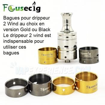 Bagues 2 Wind Black ou Gold Airflow Focusecig