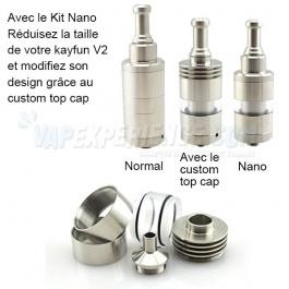 Nano kit Kayfun V2 - Custom Top Cap